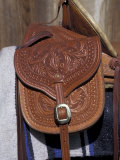 Detail of Ornate Horse Saddle Bag  Deer Lodge  Montana  USA