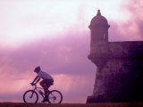 Cycling at El Morro in Old San Juan at Sunset  Puerto Rico