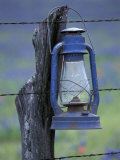 Blue Lantern and Barbed Wire  Lytle  Texas  USA