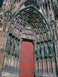 Cathedral Entrance  Strasbourg  Alsace  France