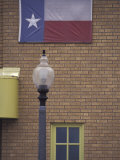 Texas Flag and Street Light  Lubbock  Texas  USA