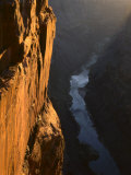 Sandstone Cliff and Colorado River at Sunrise  Toroweap  Grand Canyon National Park  Arizona  USA