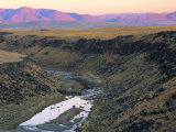 Sunset on Owyhee River  Bull Run Mountains  Nevada  USA