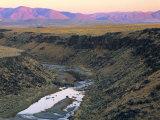 Sunset on Owyhee River  Bull Run Mountains  Nevada  USA