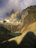 Clouds over Torres del Paine Mountains  Patagonia  Chile