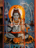 Vishnu Hindu God Mural  India