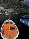 Fishing Boats Moored in the Port of Lipari  Sicily  Italy