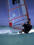 Windsurfing at Malmok Beach  Antigua  Caribbean