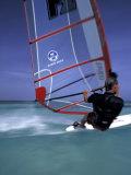Windsurfing at Malmok Beach  Antigua  Caribbean