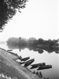Boats along the River Vienne  Tourain  France