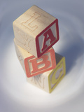 Three Wooden Letter Blocks of the Abcs