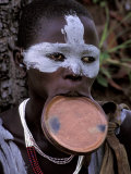Traditional Surma Tribe Lip Plate  Ethiopia