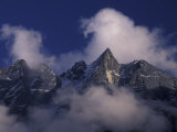 Clouds Swirl Around Mera Mountain  Nepal