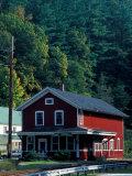 Railroad Depot in West Cornwall  Litchfield Hills  Connecticut  USA
