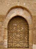 Wrought-iron on St Martin Church Doors  Burgundy  France