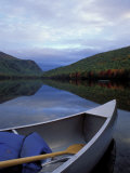 Canoeing on Lower South Branch Pond  Northern Forest of Maine  USA