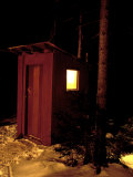 Outhouse at the Sub Sig Outing Club's Dickerman Cabin  New Hampshire  USA
