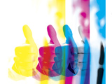 Colorful Images of Man Giving Thumbs Up