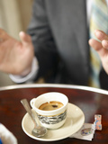 Shot of Espresso in China Demitasse