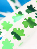 Green Shamrock Sticker Decorations