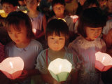 Children Choirs Join a Candle Light Procession for the World's Peace