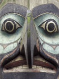 Totem Pole in Pioneer Square  Seattle  Washington  USA