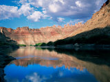 Colorado River and Canyon Walls at Sunrise  Colorado Plateau  Canyonlands National Park  Utah  USA