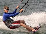 Democratic Presidential Candidate Sen John Kerry  D-Mass  Kite Surfs