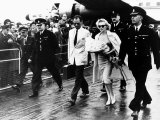 Marilyn Monroe Arriving at London Airport with Husband Arthur Miller  1956