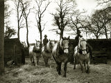 Farmers Riding Their Horses Back to the Stables  1935