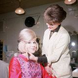 Singer Dusty Springfield Being Made up by Hilary Bates for Thank Your Lucky Stars