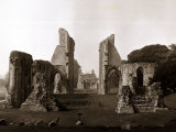 Old Ruined Building Ruins  Glastonbury Abbey in Somerset