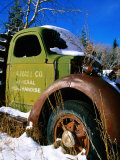 Side of Old Truck in Snow  USA
