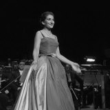 Maria Callas Singing at the Royal Festival Hall  1959