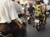 Motorbike Traffic on the Streets of Saigon or Ho Chi Minh City