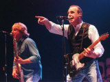 Francis Rossi of Status Quo Makes Faces at the Crowd in the Clyde Auditorium  October 1999
