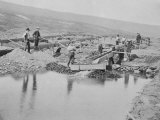 Sluicing on Number Two Claim at Anvil Creek Nome Alaska During the Gold Rush
