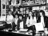 Status Quo Signing Their New Record at London HMV Store