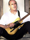 Status Quo's Francis Rossi Practise's with One of His Favourite Guitar's at His Home in Surrey
