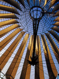 Interior of Sony Center  Berlin  Germany