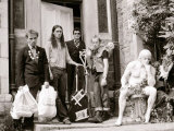 The Young Ones in Bristol  Rik Mayall  Nigel Planer  Chris Ryan  Ade Edmondson  August 1982