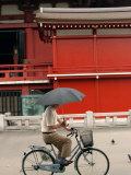 Bike Rider  Senso-Ji Temple  Asakusa  Tokyo  Japan