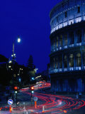 Roman Colosseum at Night  Rome  Italy