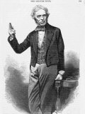 Michael Faraday Scientist Shown Giving a Demonstration
