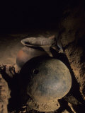 Two of the Hundreds of Pots Found in the Tunichil Muknal Cave