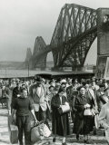 Tourists Come Ashore from Cruise Ship Caronia  South Queensferry  April 1957
