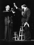 Frank Sinatra at a New York Concert Being Declared by Luciano Pavarotti