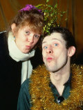 Kirsty Maccoll  with Lead Singer from the Pogues Shane Macgowan  December 1987