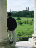 A Man Stands Looking at the English Garden in Munich