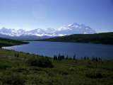 Mt Mckinley  the Tallest Mountain in North America  Wonder Lake  Denali National Park  Alaska